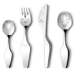 Georg Jensen Alfredo Modern Classic Stainless Steel The Twist Family Cutlery - Set of 4