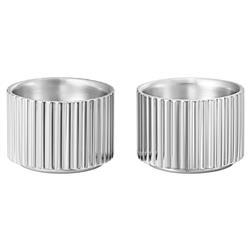 Georg Jensen Bernadotte Modern Classic Silver Stainless Steel Egg Cup - Set of 2
