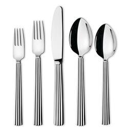 Georg Jensen Bernadotte Modern Classic Silver Stainless Steel Flatware - Set of 5