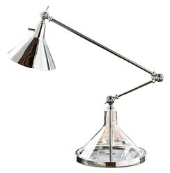 Regina Andrew Glass Silver Glass Funnel Beaker Adjustable Task Lamp