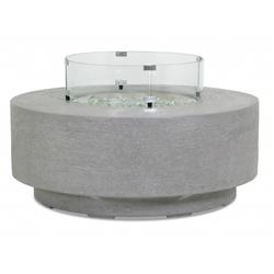 Sunset West Modern Grey Gravelstone Round Outdoor Fire Pit Table