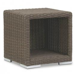 Sunset West Coronado Coastal Brown Wicker Square Outdoor Side End Table