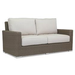 Sunset West Coronado Coastal Beige Cushion Brown Wicker Outdoor 2 Seater Sofa