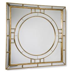 Darwell Hollywood Gold Leaf Square Beveled Mirror
