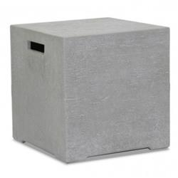 Sunset West Modern Grey Gravelstone Outdoor Square Side End Table