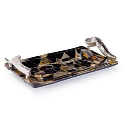 Sadar Global Bazaar Silver Horn Veneered Cache Tray | REG-55-7611