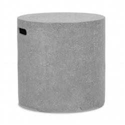 Sunset West Modern Grey Gravelstone Outdoor Round Side End Table