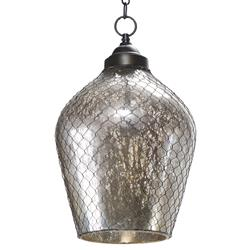 Colani Industrial Loft Mercury Glass Wire Cage Pendant