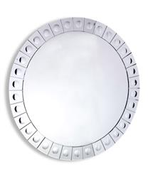 "Hollywood Regency Modern Convex Dot Large Round Mirror 42""D"