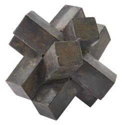Risom Industrial Loft Abstract Zinc Sculpture
