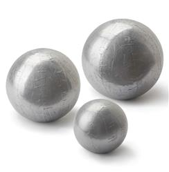 Finizio Industrial Loft Silver Sheet Metal Spheres - Set of 3