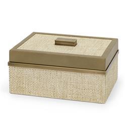 Palececk Riviera Modern Classic Natural Raffia Decorative Box - Small