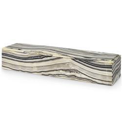 Palecek Sonora Modern Classic Beige Black Onyx Stone Long Decorative Box