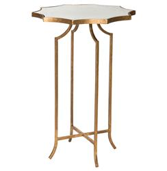 Giusti Hollywood Star Gold Leaf Antique Mirror End Table