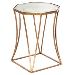 Cuadrado Hollywood Regency Antique Mirror Side Table
