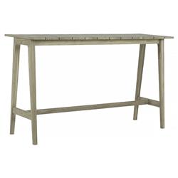 Summer Classics Coast Coastal Oyster Grey Teak Wood Outdoor Console Table