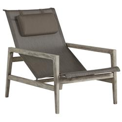 Summer Classics Coast Teak Sling Oyster Grey Outdoor Lounge Chair