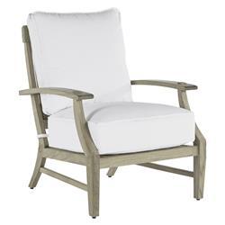 Summer Classics Croquet Teak Coastal Beach Oyster Grey Outdoor Lounge Chair