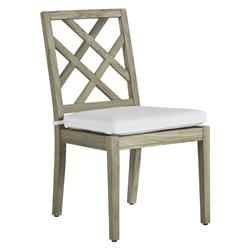 Summer Classics Haley French Country Oyster Grey Teak Wood Dining Side Chair