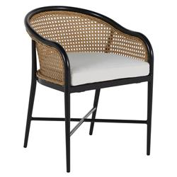 Summer Classics Havana Modern Classic Brown Woven Cane Outdoor Dining Arm Chair