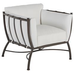 Summer Classics Majorca Modern Classic Slate Grey Aluminum Outdoor Club Chair