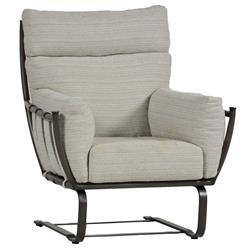 Summer Classics Majorca Modern Classic Grey Aluminum Outdoor Spring Lounge Chair