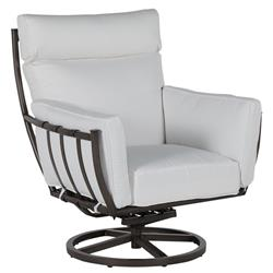 Summer Classics Majorca Modern Grey Aluminum Outdoor Swivel Rocker Lounge Chair