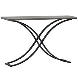 Summer Classics Marco Dove Grey Stone Metal Outdoor Console Table