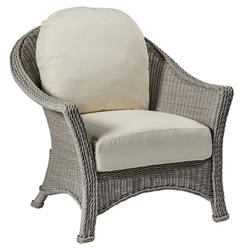 Summer Classics Regent French Oyster Grey Woven Wicker Outdoor Lounge Chair