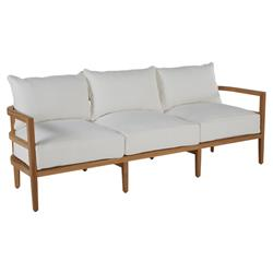 Summer Classics Santa Barbara Coastal Brown Teak Wood Outdoor Sofa