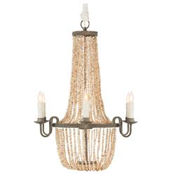 Rosario Coastal Style Pink Freshwater Pearls 6 Light Chandelier | AG-BCL222-CHAN