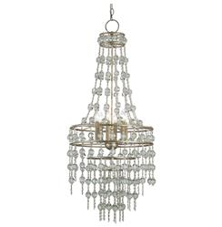 Havilland Hollywood Regency Crystal Beaded Cascade 6 Light Chandelier