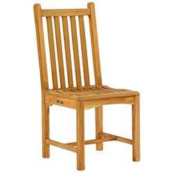 Kingsley Bate Classic Coastal Beach Slatted Teak Outdoor Dining Side Chair