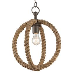 Seafarer Nautical Beach Style Wrapped Rope Pendant