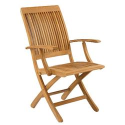 Kingsley Bate Monterey Coastal Beach Teak Outdoor Folding Dining Arm Chair