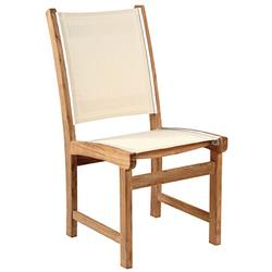 Kingsley Bate St. Tropez Coastal Beige Teak Outdoor Dining Side Chair