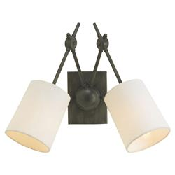 Dixon Industrial Loft Style Iron 2 Light Wall Sconce