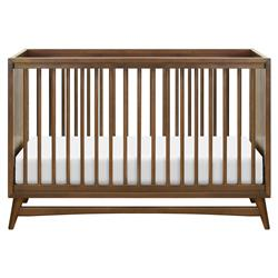 Babyletto Peggy Mid Century Modern Brown Wood Convertible Crib