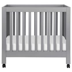 Babyletto Origami Modern Classic Grey Collapsible Mini Crib