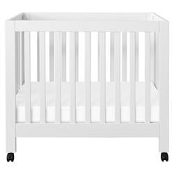 Origami Modern White Wood Collapsible Mini Crib