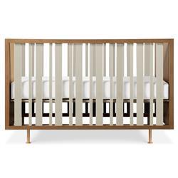 Nursery Works Novella Mid Century Brown Wood Convertible Crib