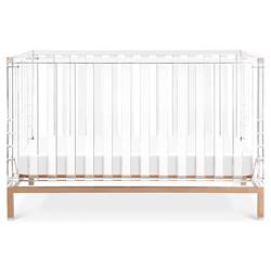 Nursery Works Luma Modern Classic Clear Acrylic Gold Base Convertible Crib
