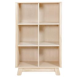 Hudson Modern Classic Washed Brown Pine Wood Cubby Bookcase