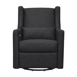Kieran Modern Classic Dark Grey Upholstered Glider Recliner
