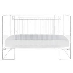 Nursery Works Vetro Crib Modern Classic Clear Acrylic Clear Crib