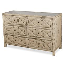 Giacomo Hollywood Regency Tufted 6 Drawer Dresser