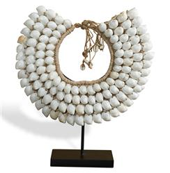 Mokolo Global Bazaar White Shell Tribal Necklace