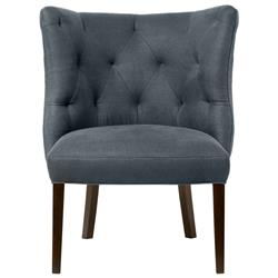 Cisco Brothers Goodman Hollywood Regency Feather Down Steel Grey Accent Chair