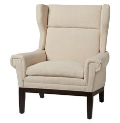 Lyto Mid Century Wing Back Masculine Ivory Accent Chair