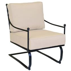 Sunset West Provence French Beige Cushion Aluminum Outdoor Rocker Lounge Chair
